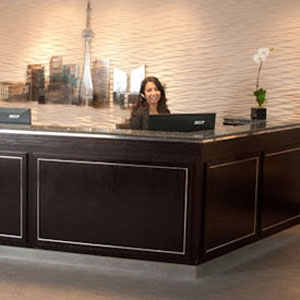 Receptionist Welcoming Area - Toronto Virtual Office